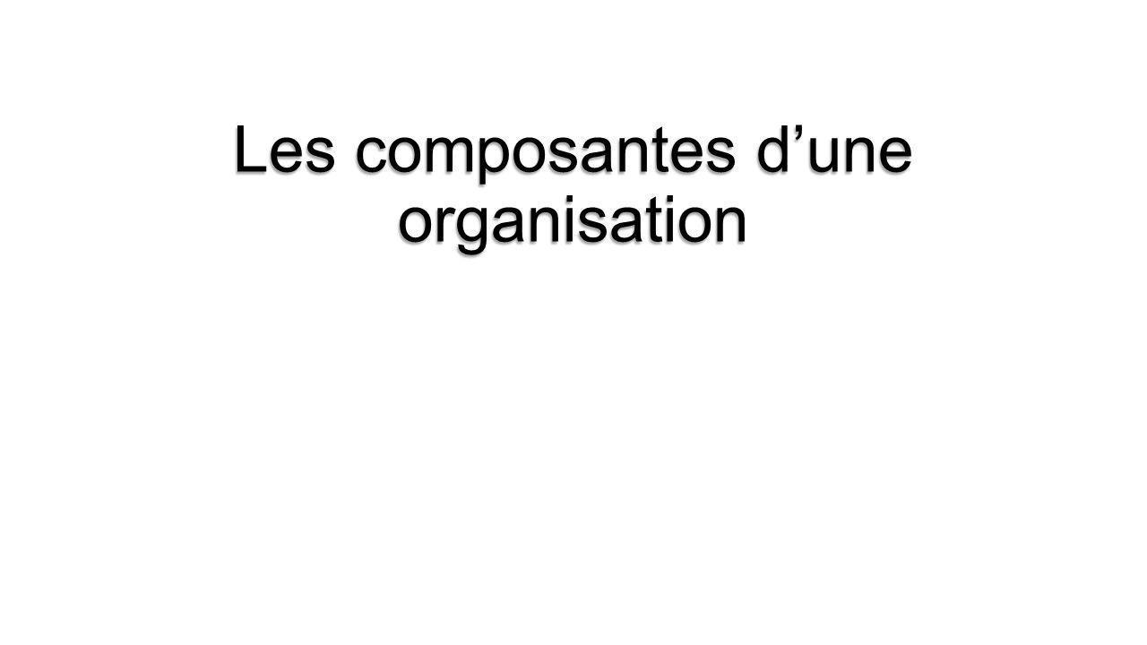 Les composantes dune organisation