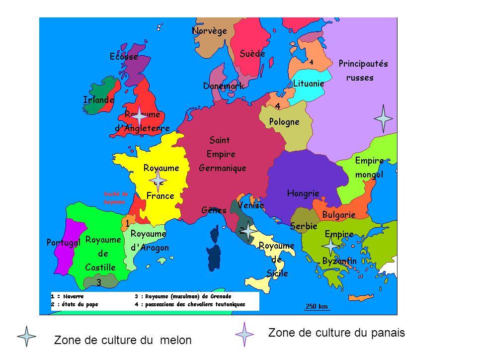 Zone de culture du melon Zone de culture du panais