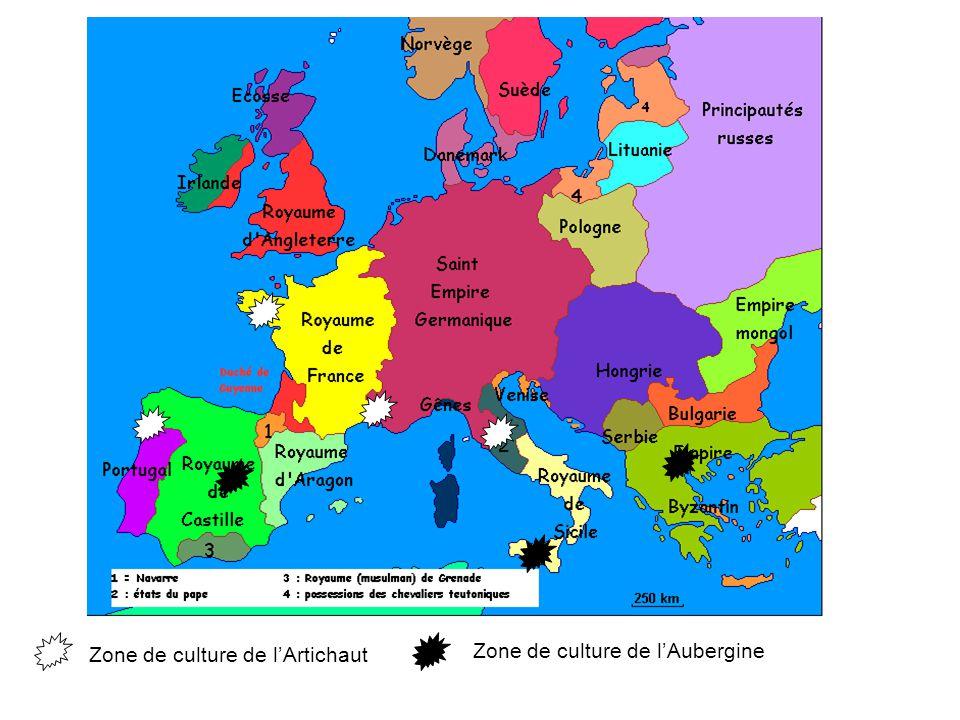 Zone de culture de lArtichaut Zone de culture de lAubergine