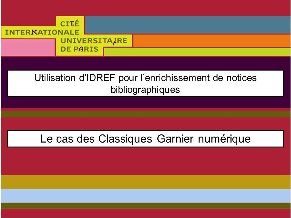 TITRE xxxxxxxxxxxxx XXXXXXXX Page des ressources Garnier numérique Les collections Classiques Garnier numérique sont réparties en corpus et sous-corpus.
