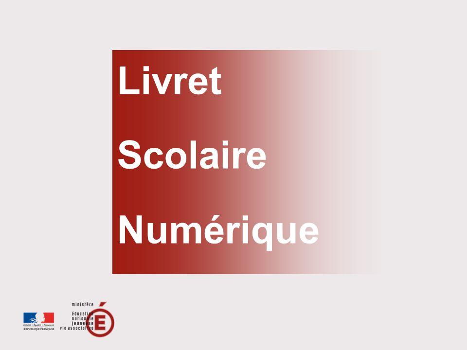 > 1/8 Direction générale de lenseignement scolaire Livret Scolaire Numérique