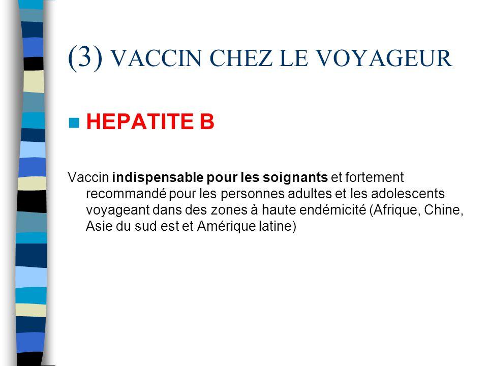 (3) VACCIN CHEZ LE VOYAGEUR HEPATITE B Vaccin indispensable pour les soignants et fortement recommandé pour les personnes adultes et les adolescents v