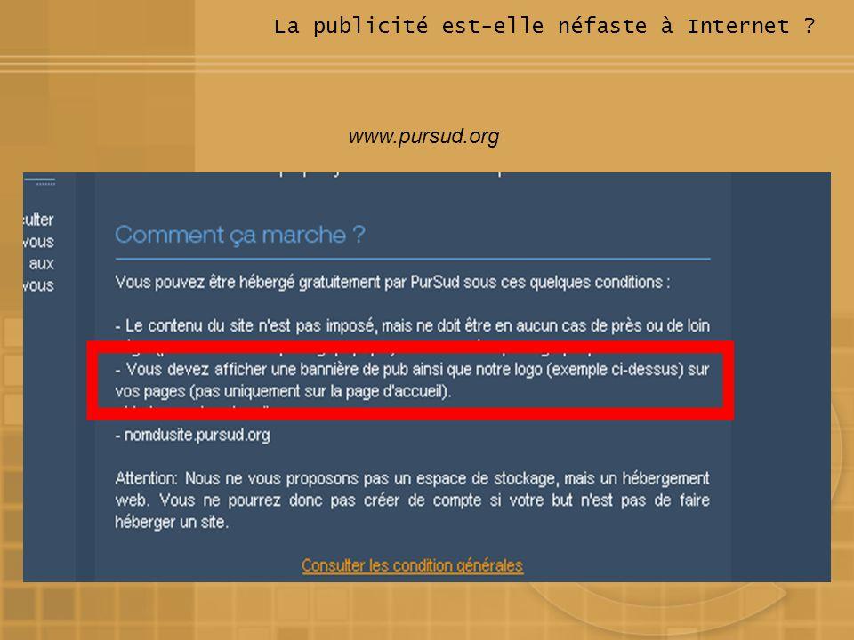La publicité est-elle néfaste à Internet ? www.pursud.org