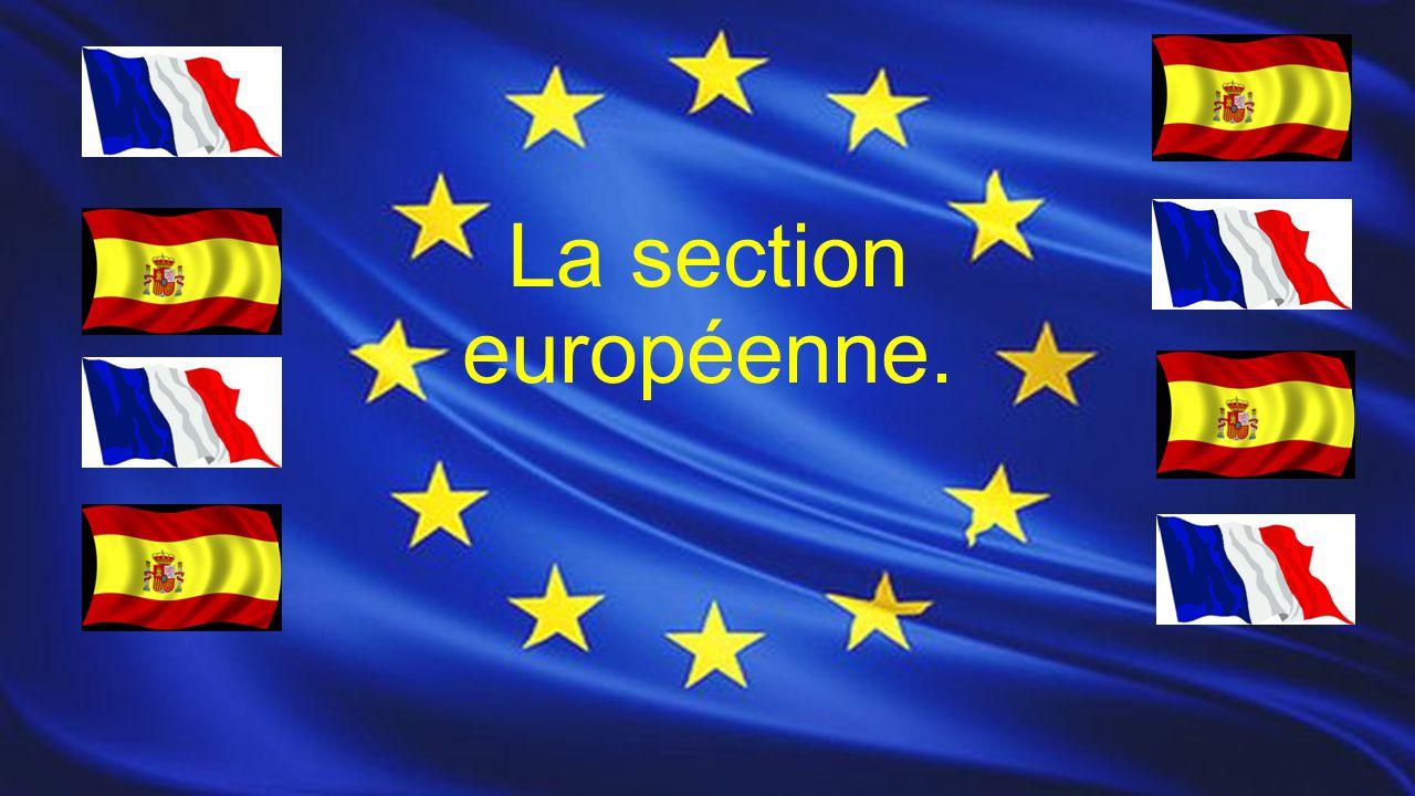 La section européenne.