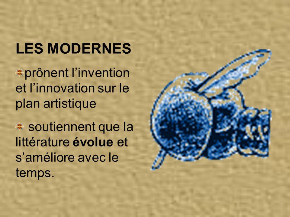 LA VICTOIRE DES MODERNES