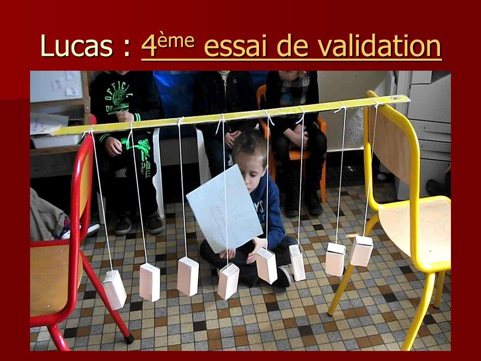 Lucas : 4 ème essai de validation 4 ème essai de validation4 ème essai de validation