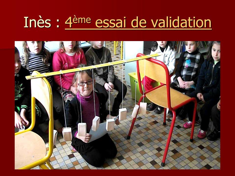Inès : 4 ème essai de validation 4 ème essai de validation4 ème essai de validation
