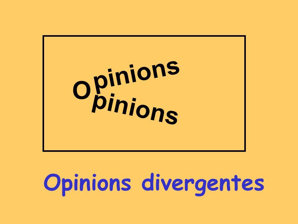 Opinions divergentes pinions O