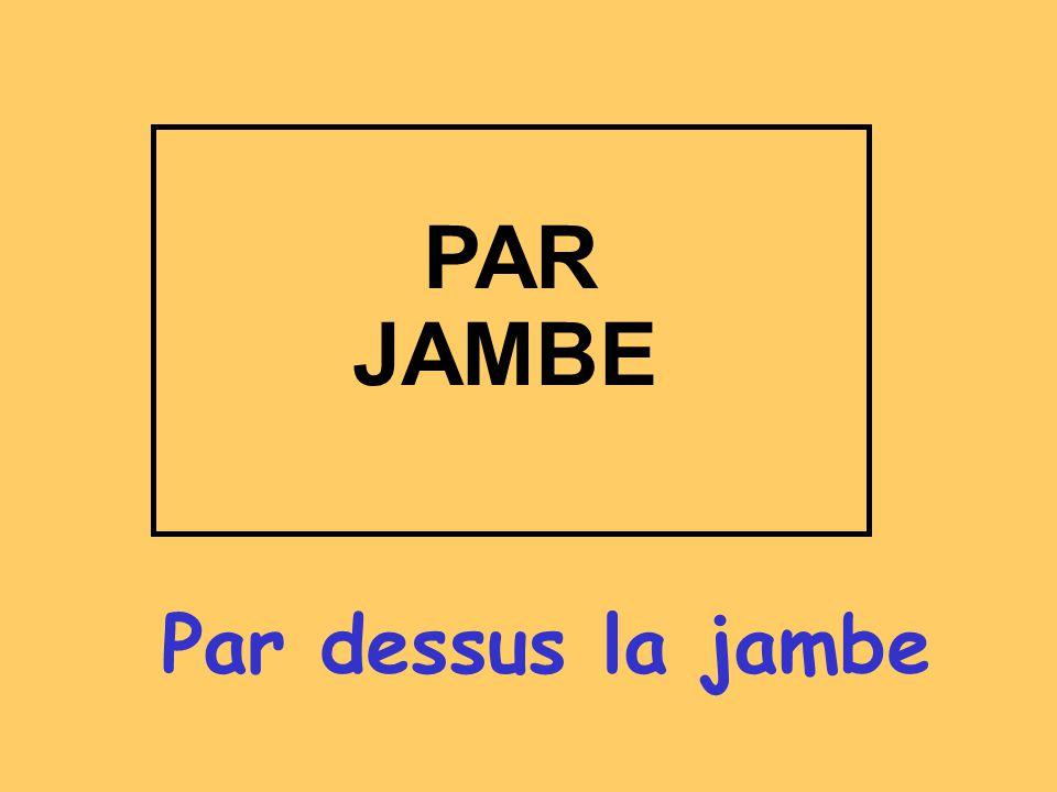 Par dessus la jambe PAR JAMBE