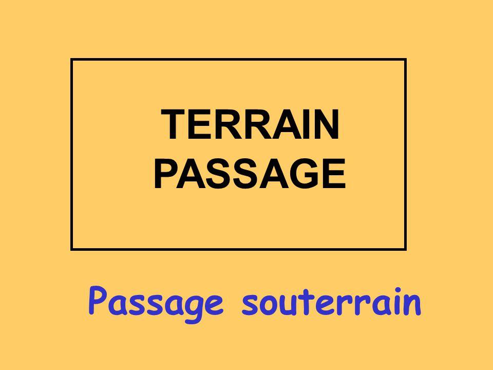Passage souterrain TERRAIN PASSAGE