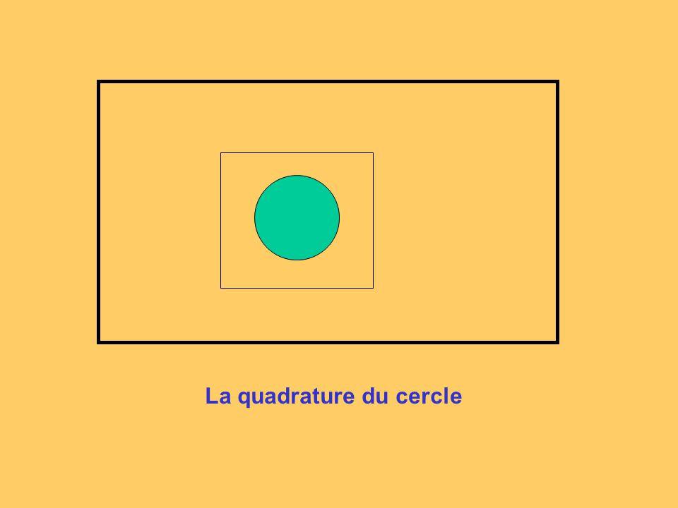 La quadrature du cercle