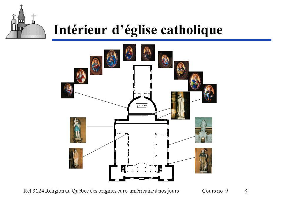 Rel 3124 Religion au Québec des origines euro-américaine à nos joursCours no 9 6 Intérieur déglise catholique