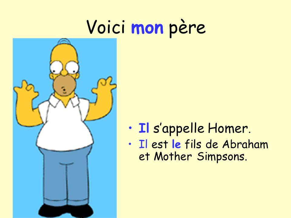 Voici mon père Il sappelle Homer. Il est le fils de Abraham et Mother Simpsons.