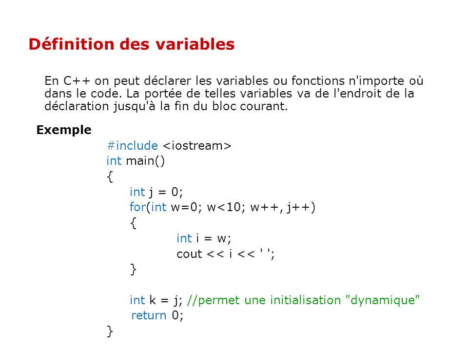 Les commentaires /* commentaire traditionnel en C et C++ */ int main() { // commentaire de fin de ligne //... } /** commentaire spécial type Doxygen (