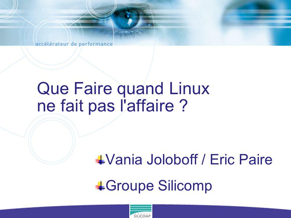 4èmes Journées Linux Grenoble - http://www.guilde.asso.fr/rencontres/4JLG 22 Le monde Open Source Linux LinuxµCLinux RTLinux, RTAI, Embedix, Jaluna, Hard Hat, … eCos Ressources Temps Réel