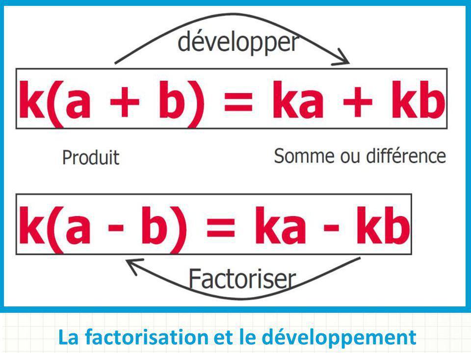 La factorisation et le développement