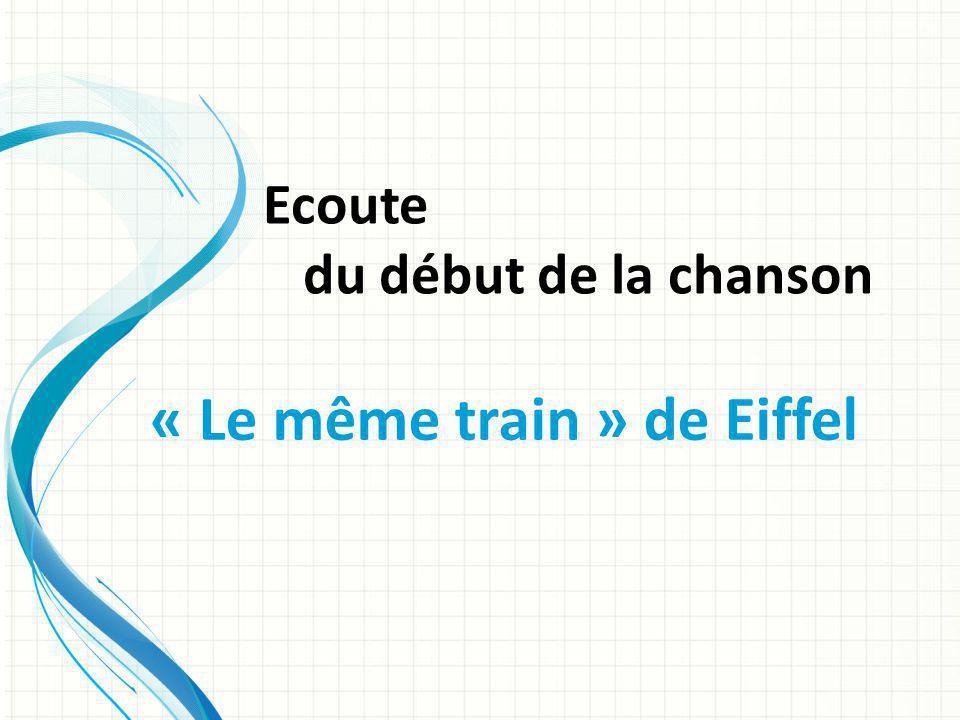 Ecoute du début de la chanson « Le même train » de Eiffel
