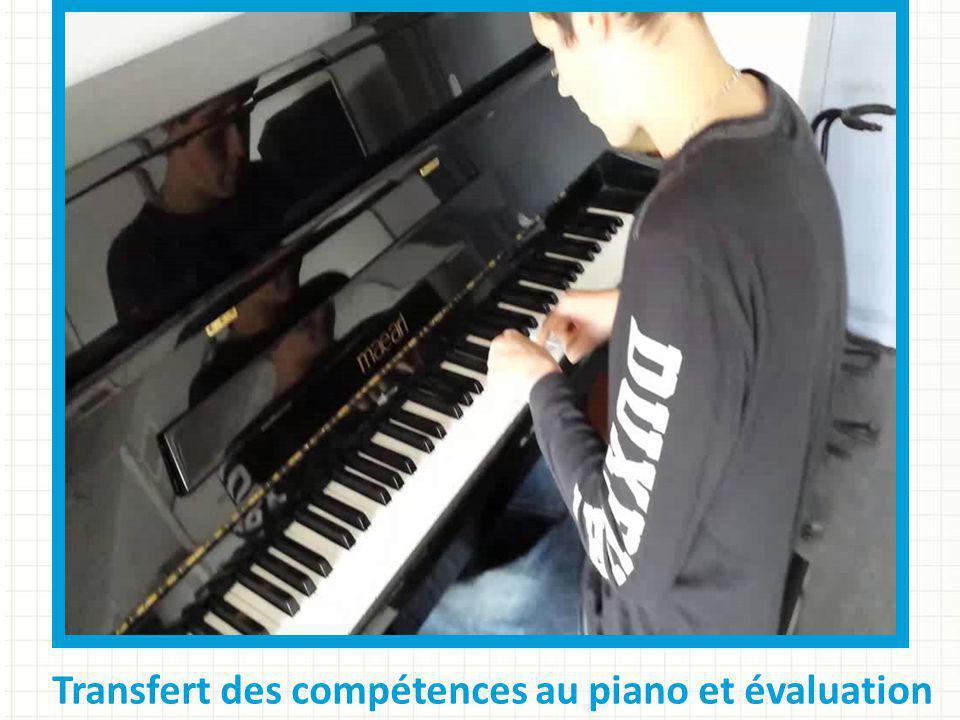 Transfert des compétences au piano et évaluation
