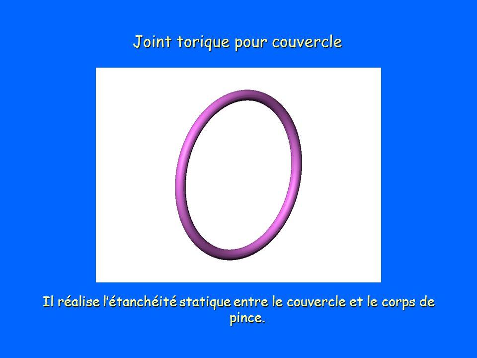 Joint torique pour couvercle Il réalise létanchéité statique entre le couvercle et le corps de pince.
