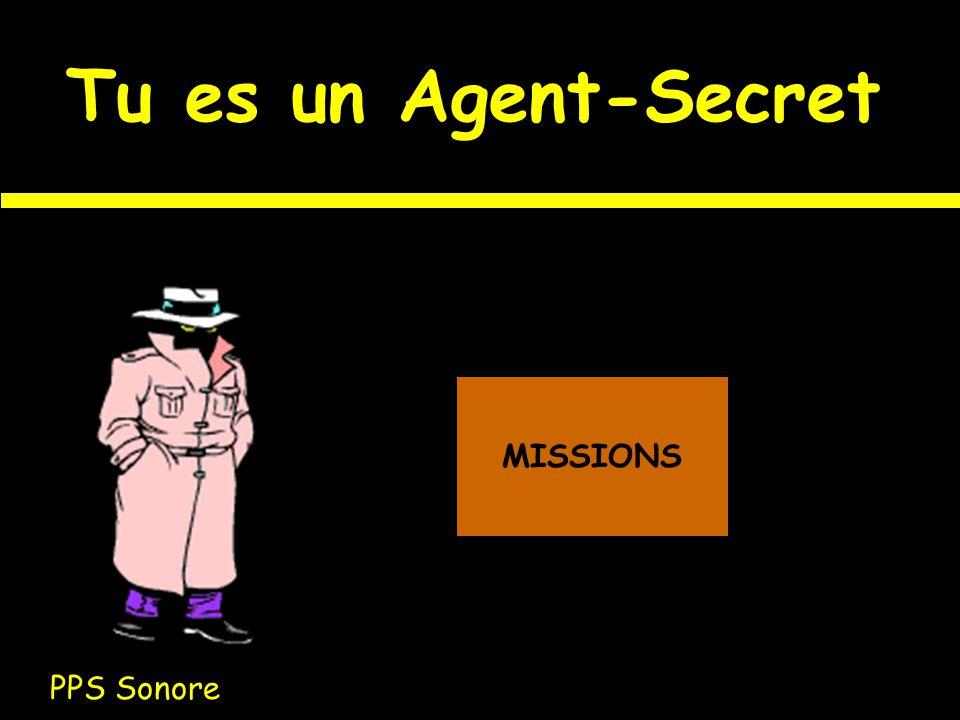 Tu es un Agent-Secret PPS Sonore MISSIONS