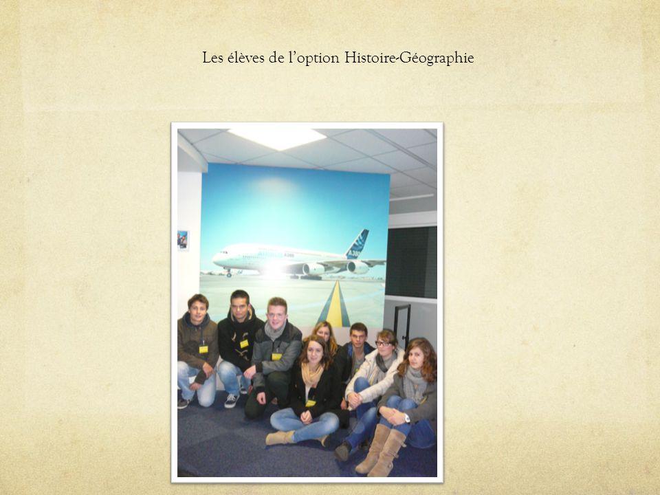 Les élèves de loption Histoire-Géographie