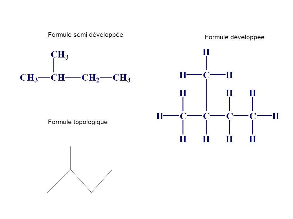 Formule topologique Formule semi développée Formule développée