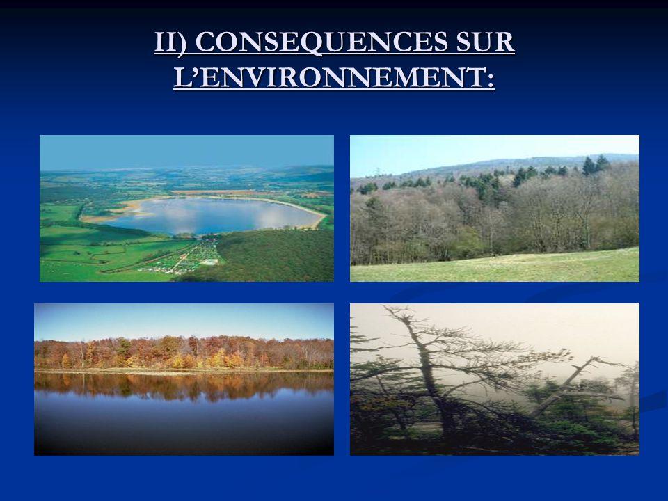 II) CONSEQUENCES SUR LENVIRONNEMENT: