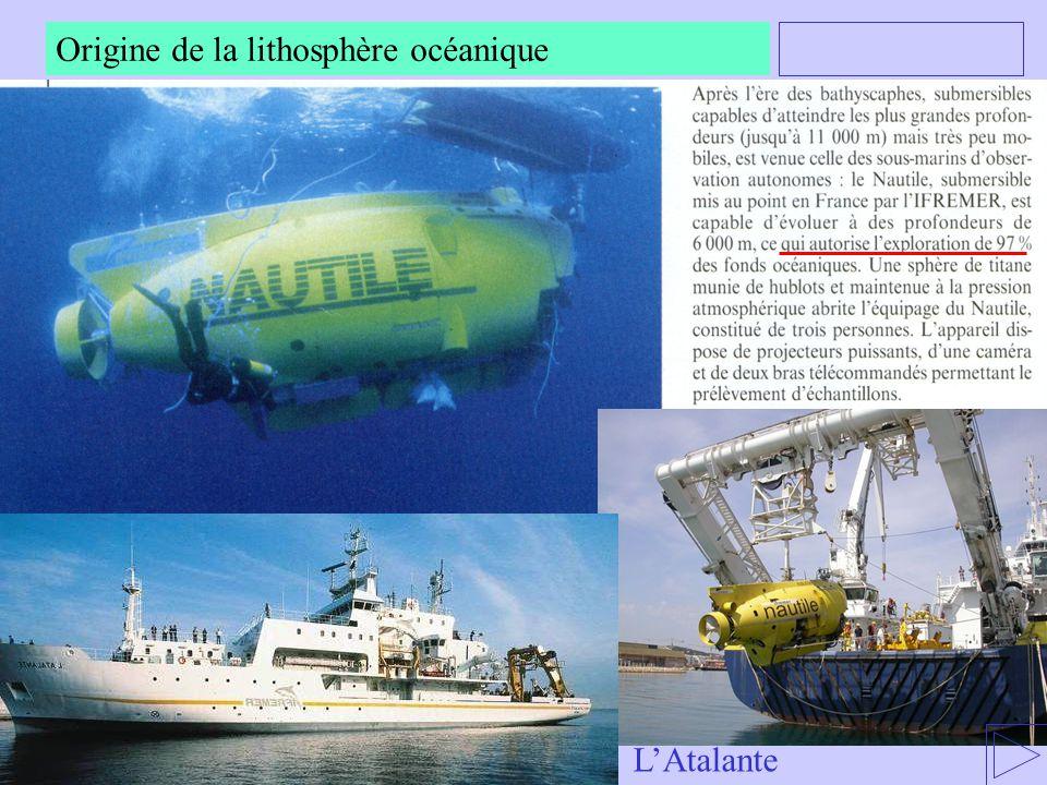Origine de la lithosphère océanique LAtalante