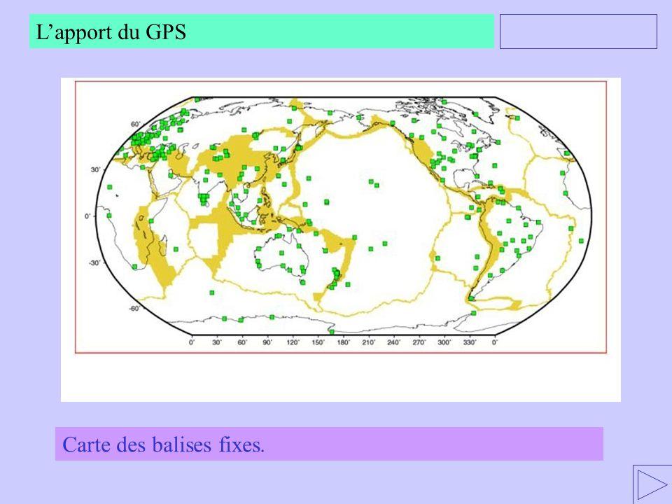 Carte des balises fixes. Lapport du GPS