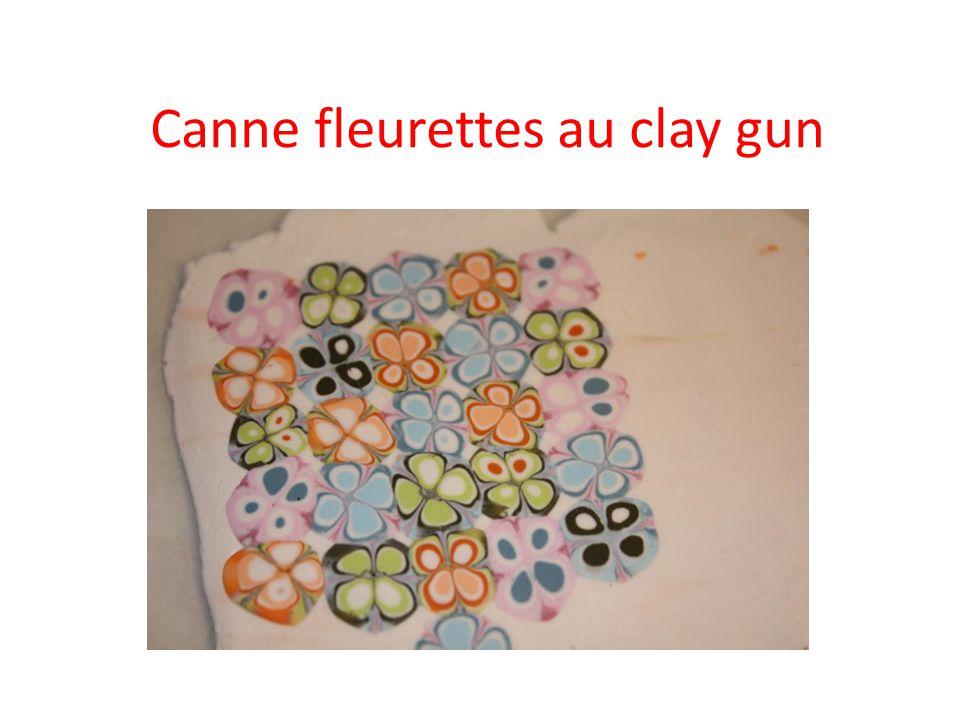 Choisissez vos couleurs, créez les ronds avec lextrémité du clay gun