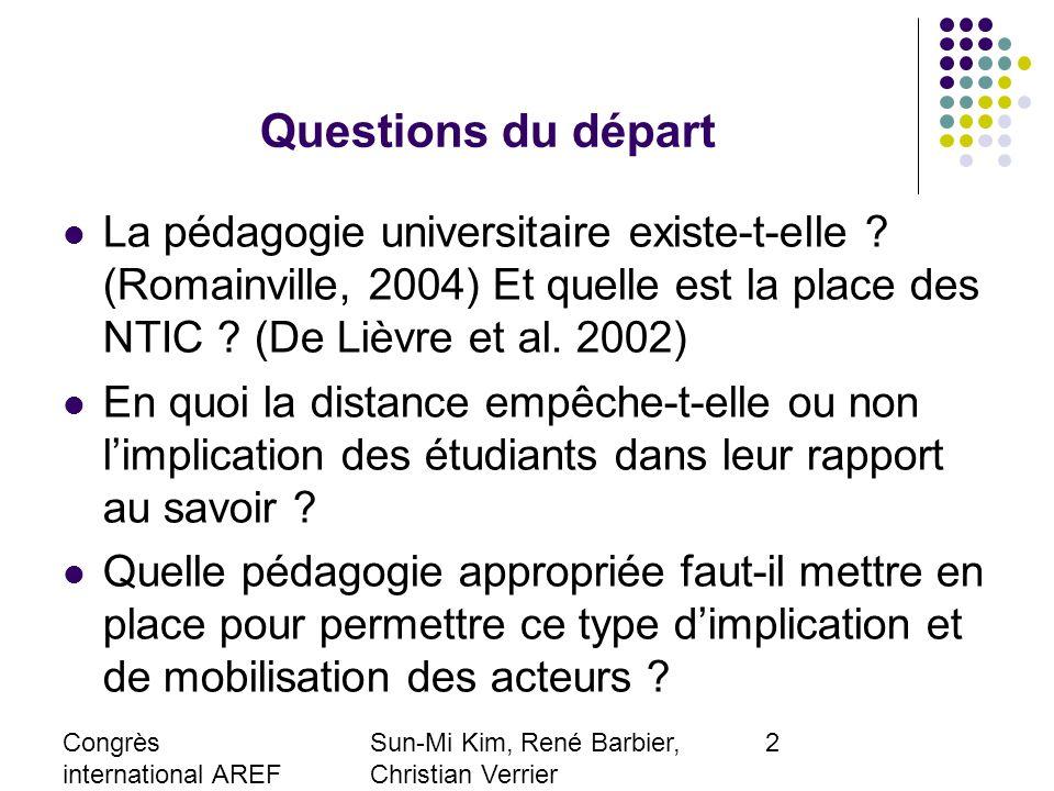 Congrès international AREF 2007 28-31 août, Strasbourg Sun-Mi Kim, René Barbier, Christian Verrier Laboratoire EXPERICE, Paris 8-Paris 13 smkimfr@yahoo.fr 13 Appréciations générales (I) 2005-062006-07 Très satisfaisante2142,03055,6 Satisfaisante2346,02240,7 acceptable612,023,7 Total5054