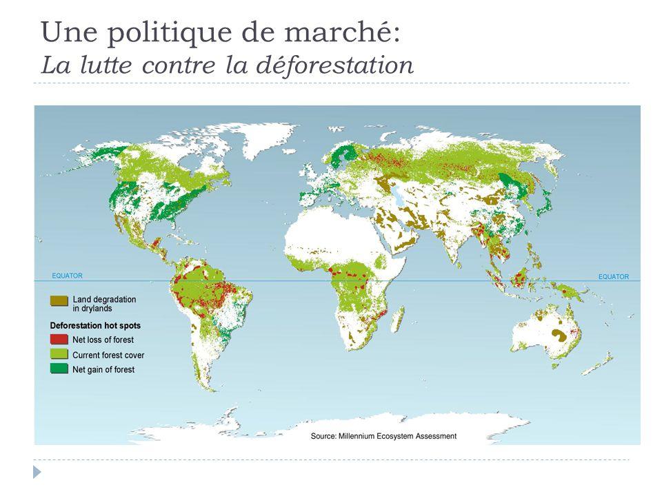 Une politique de marché: La lutte contre la déforestation
