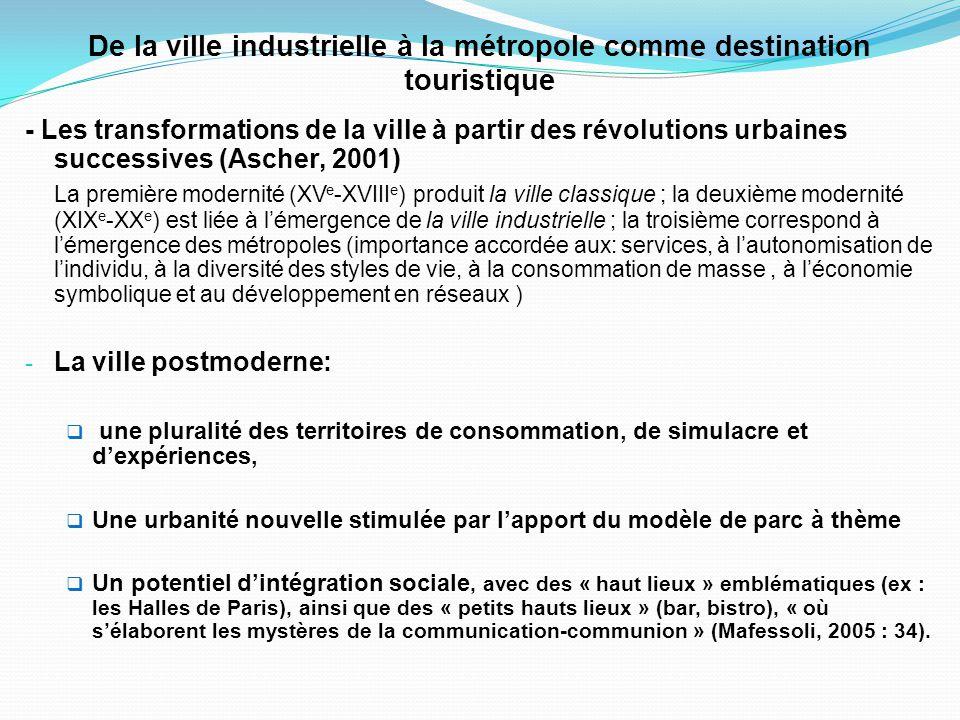 Le concept de tourisme urbain et métropolitain 1- Un flou conceptuel (Cazes et Potier, 1996; Page et Hall, 2003): Quest-ce que le tourisme urbain.