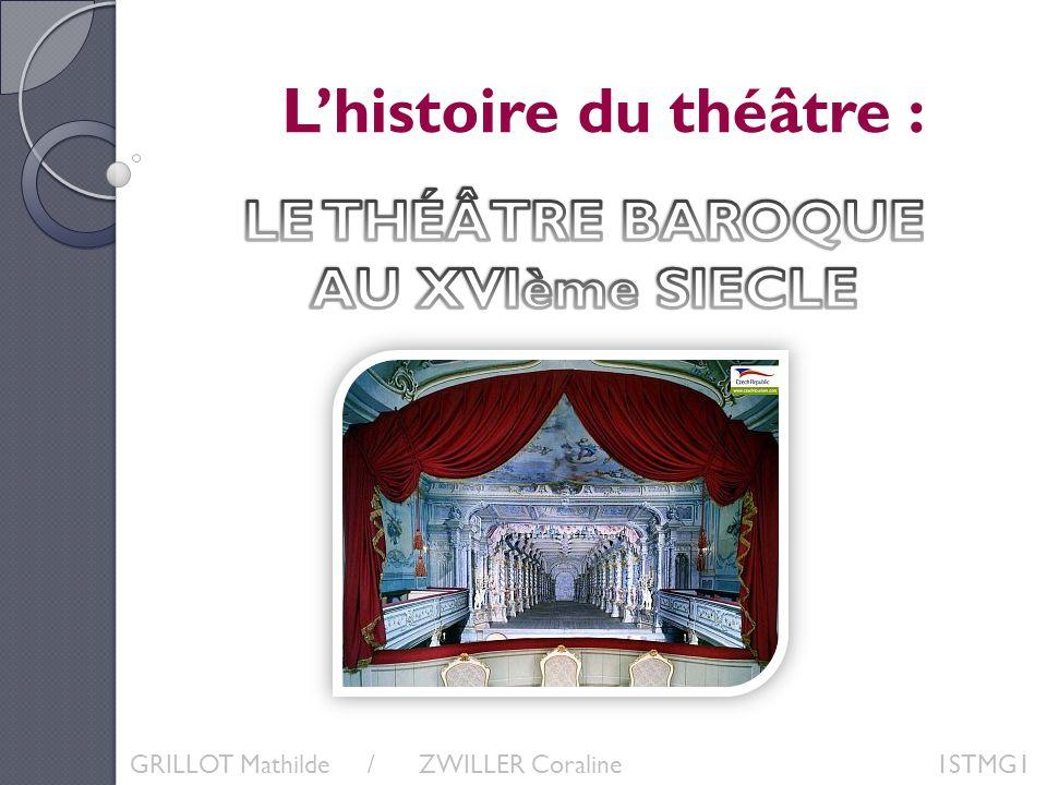 Lhistoire du théâtre : GRILLOT Mathilde / ZWILLER Coraline 1STMG1