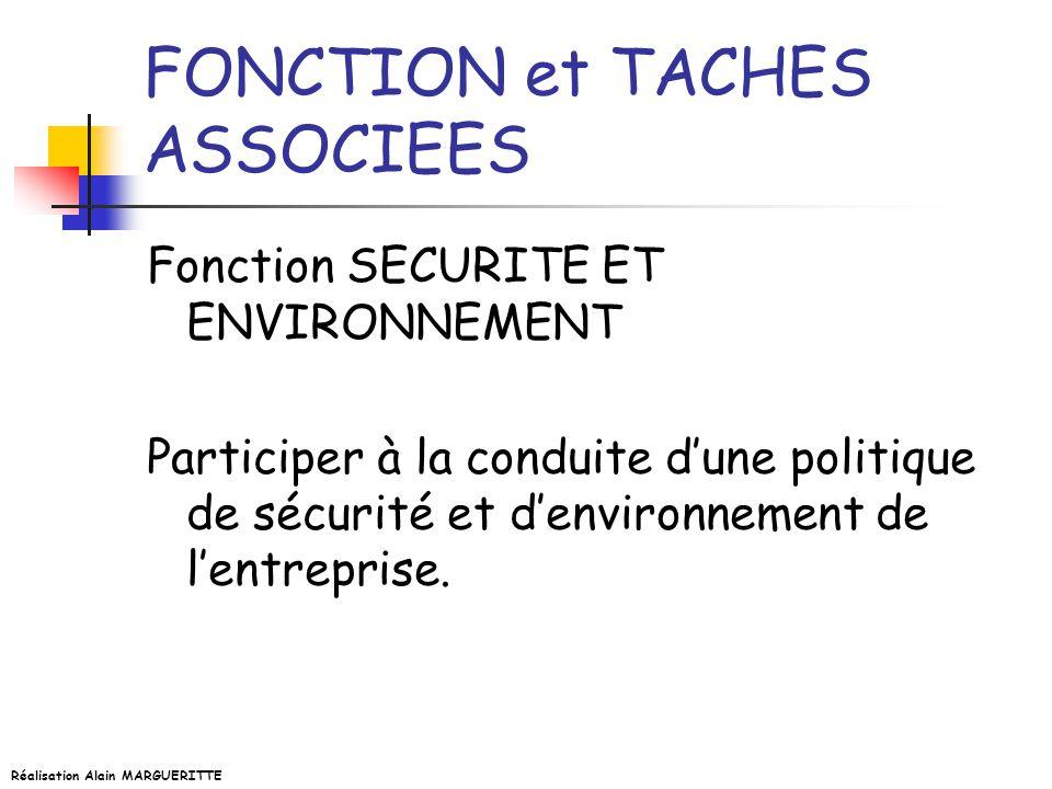 Réalisation Alain MARGUERITTE Capacité C6 ORGANISER, SUIVRE Savoir-faireConditions de réalisationCritères et indicateurs de performance 1.