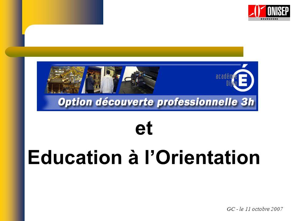 Evaluation EAODP Pas d évaluation de l élève, ni directe, ni au travers de ses projets.