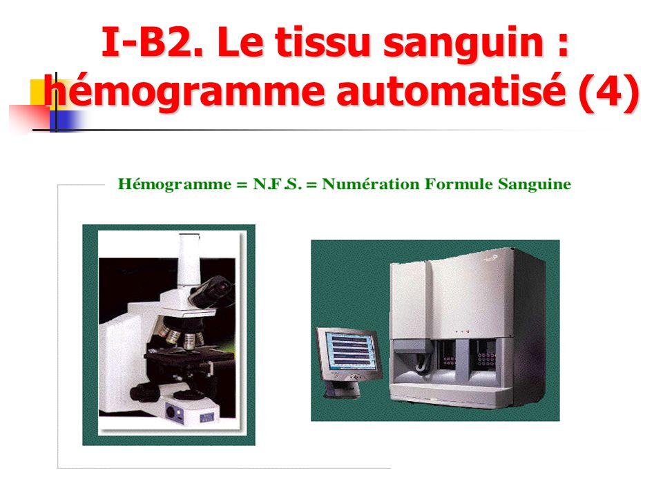 I-B2. Le tissu sanguin : hémogramme automatisé (4)