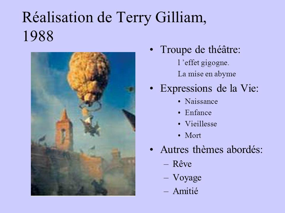 Réalisation de Terry Gilliam, 1988 Troupe de théâtre: l effet gigogne. La mise en abyme Expressions de la Vie: Naissance Enfance Vieillesse Mort Autre