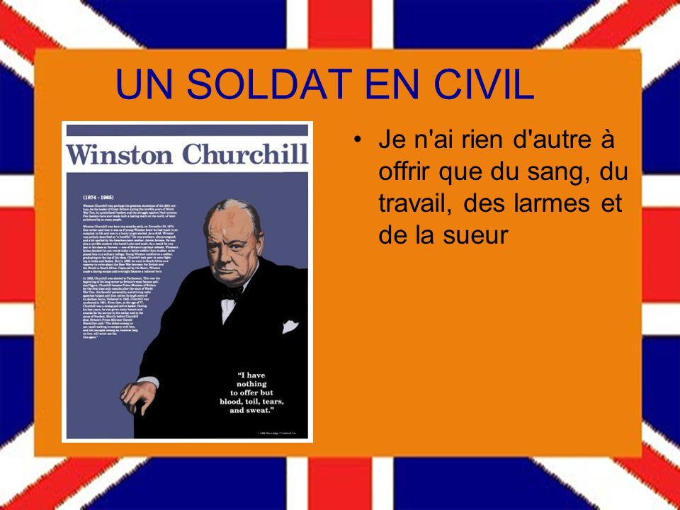 Winston CHURCHILL 1874-1965 Pensées et anecdotes Lhistoire me sera indulgente car jai lintention de lécrire. Pour passer à la suite appuyez sur la bar