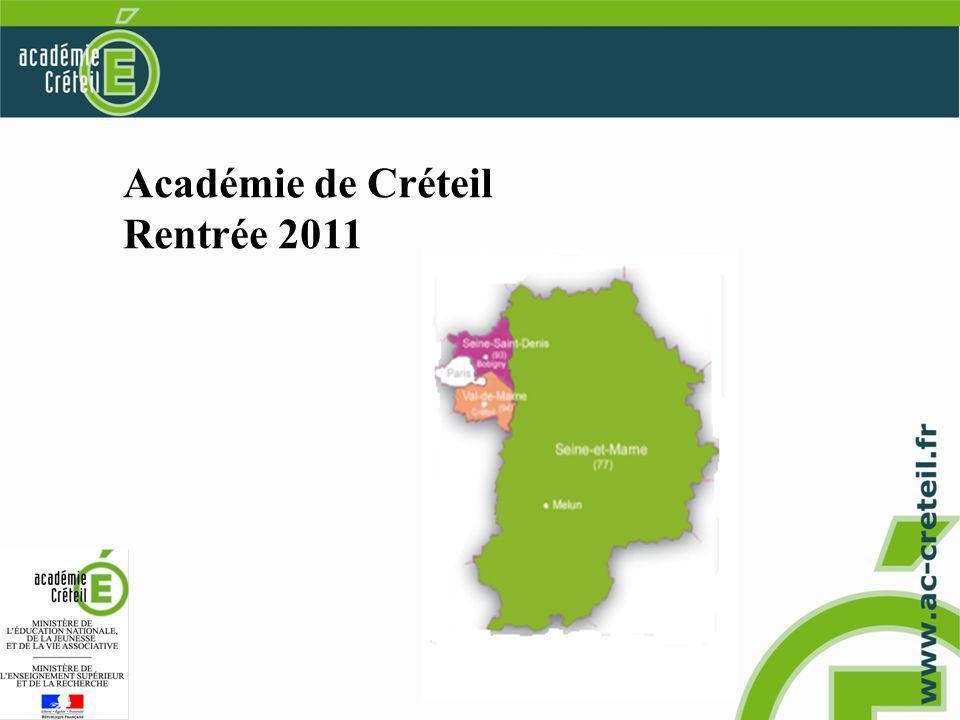 Académie de Créteil Rentrée 2011