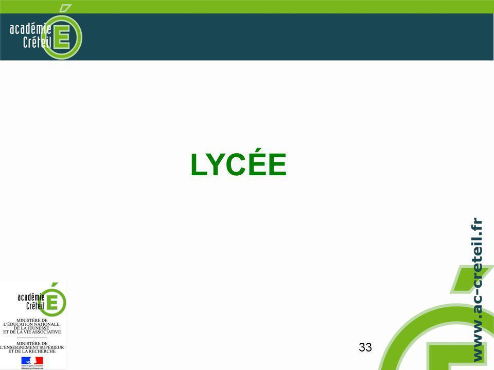 33 LYCÉE