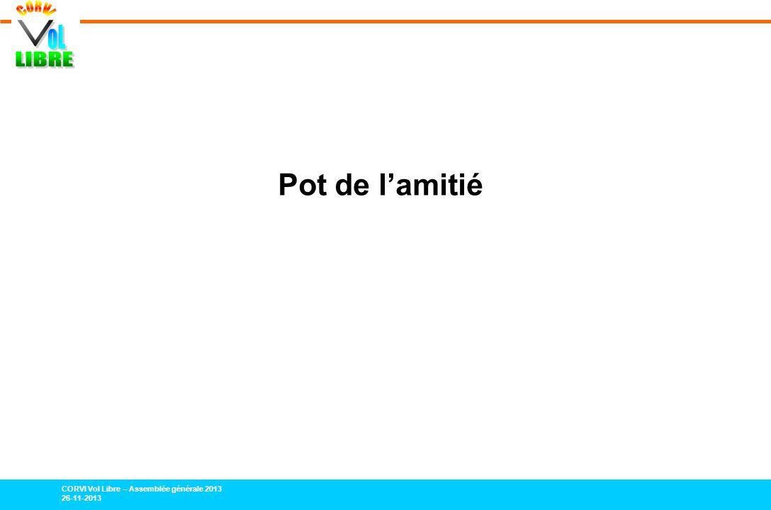 CORVI Vol Libre – Assemblée générale 2013 26-11-2013 Pot de lamitié