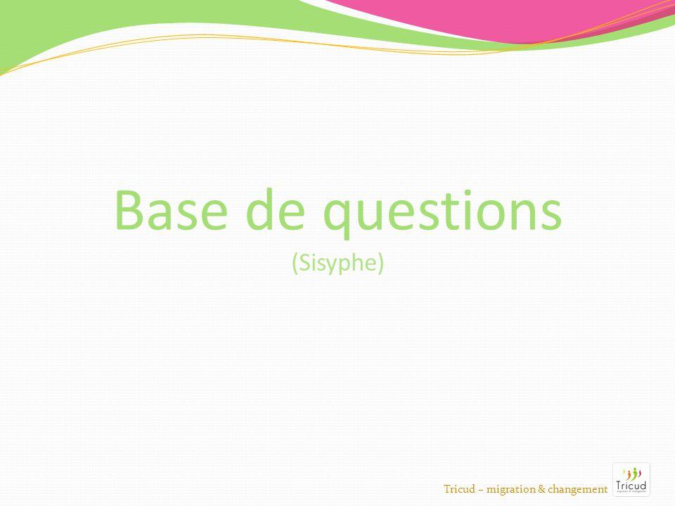Base de questions Tricud – migration & changement (Sisyphe)
