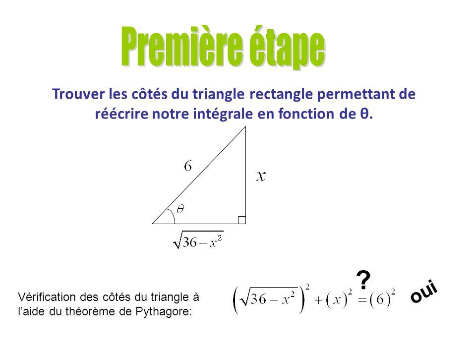 Calculer lintégrale suivante à laide de la substitution trigonométrique.