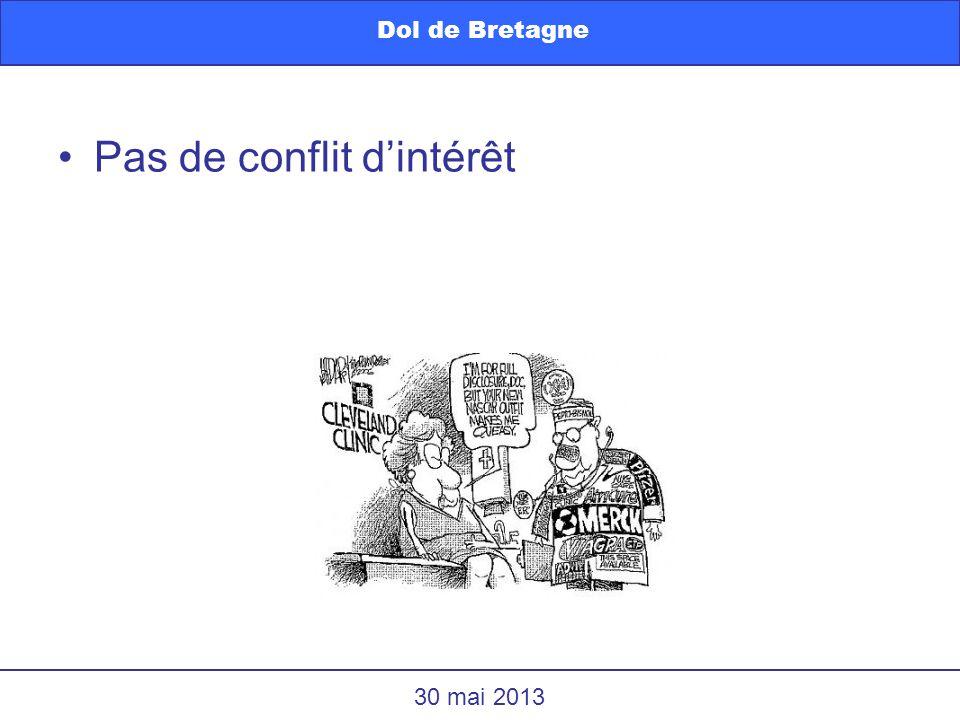 Pas de conflit dintérêt Dol de Bretagne 30 mai 2013