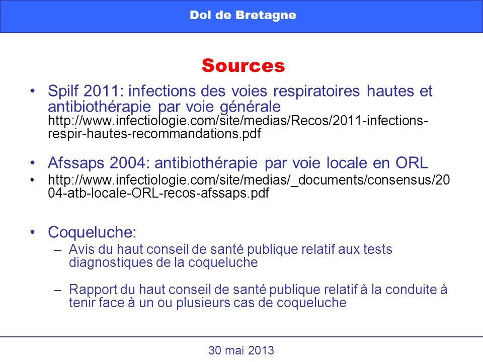 Spilf 2011: infections des voies respiratoires hautes et antibiothérapie par voie générale http://www.infectiologie.com/site/medias/Recos/2011-infecti