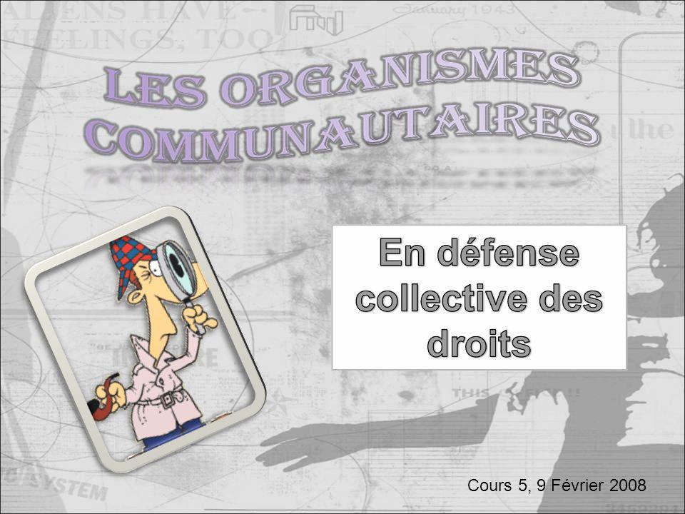 Cours 5, 9 Février 2008
