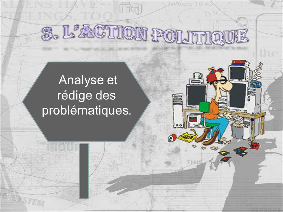 Analyse et rédige des problématiques.