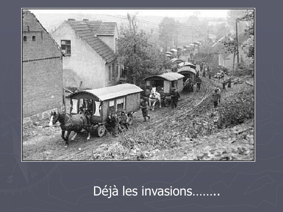 Déjà les invasions……..