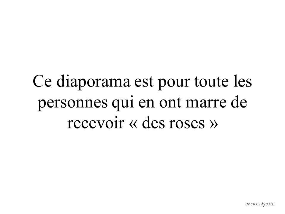 Ce diaporama est pour toute les personnes qui en ont marre de recevoir « des roses » 09.10.02 by JML